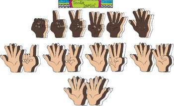 Counting Hands COMBO Clipart