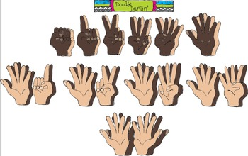 Counting Hands Clipart Set