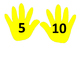 Counting Hands - Count by 5's or 10's number line or bulle