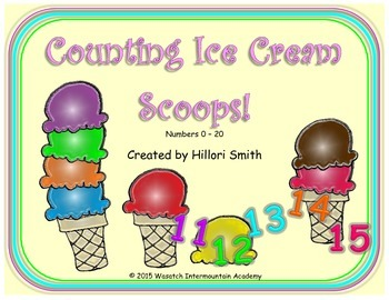 Counting Ice Cream Scoops Numbers 0-20