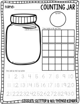 Counting Jar Math Activity