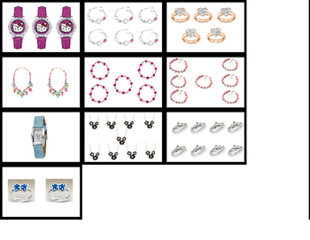 Counting Jewelry 1-10 File Folder Activity