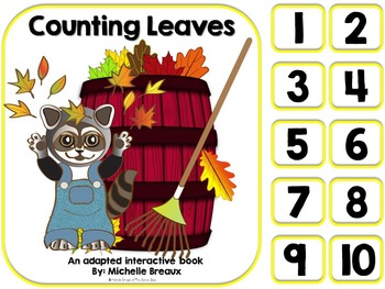 Counting Leaves- An Adapted Fall Counting Book {Autism, Ea