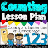 Counting Lesson Plan, counting on a number line or hundreds chart