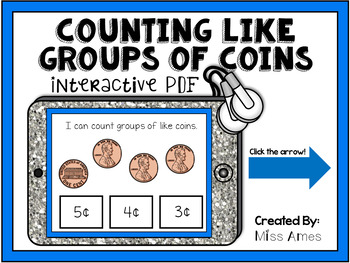 Counting Like Groups of Coins - Interactive PDF