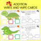 Math Mats Doubled Sided Counters and Addition laminate wri