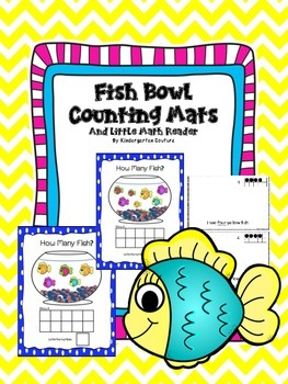 Counting Mats 1-10- Fish Theme and Emergent Reader countin