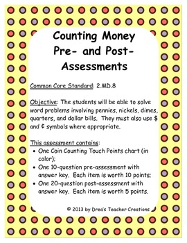 Counting Money Assessments