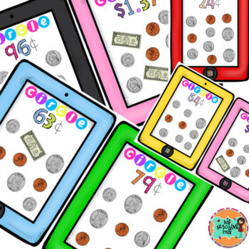 Counting Money Ipad Activity Cards-Math Center Activities