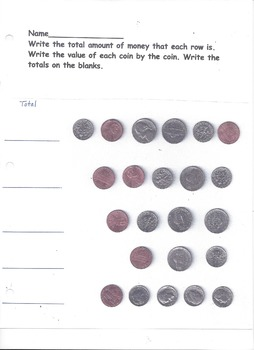 Counting Money - Pennies, Nickels, and Dimes