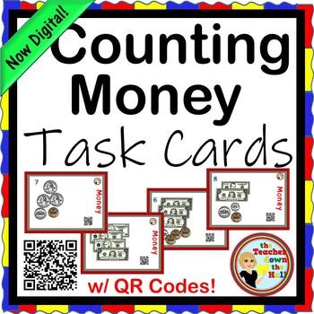 MONEY - Money Task Cards w/ QR Codes