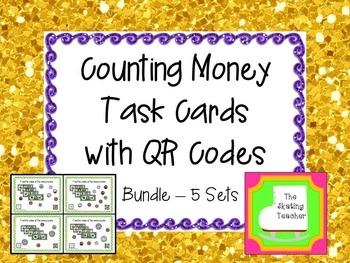 Counting Money Task Cards Bundle