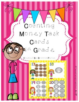 Counting Money Task Cards for 1st Grade