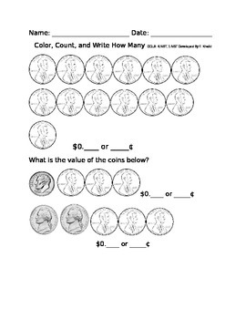 Counting Money: Thirteen Cents
