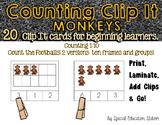 Counting Monkeys Clip It {A Beginning Work Task)