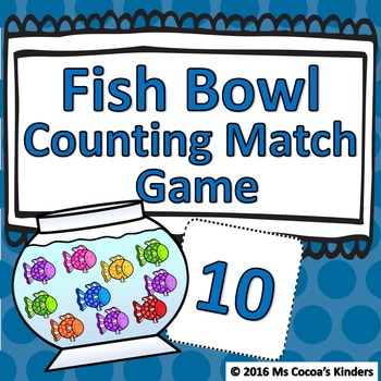 Counting Number Match Game - Fish Bowl