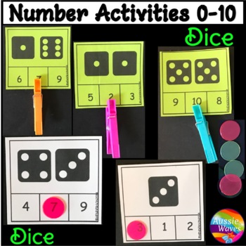 Counting 0-10 Number Recognition Dice Patterns Kinder Math