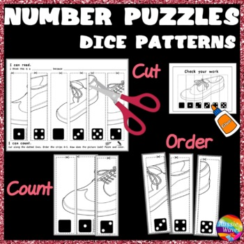 Counting Numbers 0-5 Recognize & Order DICE PATTERNS Kinde