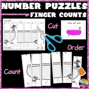 Counting Numbers 0-5 Recognize & Order FINGER COUNTS Math