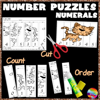 Counting Numbers 0-5 Recognize & Order NUMERALS Math Cente