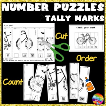 Counting Numbers 0-5 Recognize & Order TALLY MARKS Math Ce