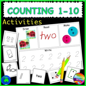 Counting Numbers 1-10 math Center Activity Cards COUNT REA