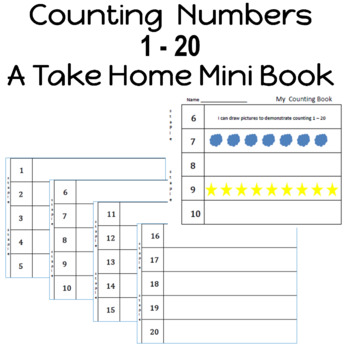 Counting Numbers 1 - 20 reinforce number recognition along