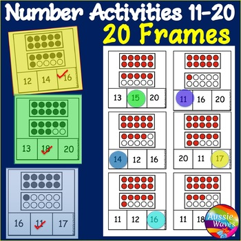 Counting Numbers 11-20 Number Recognition 10 Frames & Dots