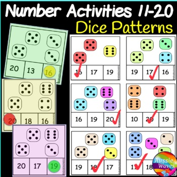 Counting Numbers 11-20 Number Recognition DICE dot pattern