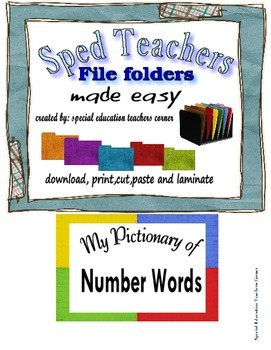 Counting Numbers File Folder and Worksheet