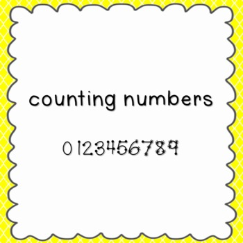 Counting Numbers Font {personal and commercial use; no lic
