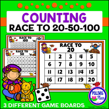 Counting Numbers Game: Race to 20, 50, or 100 - Fall Fun