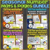 Counting & Numbers Practice Pages Bundle (Spring, Summer,