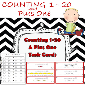 Counting Objects and Adding One More Task Cards
