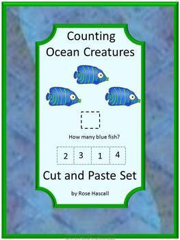 Ocean Animals Counting Cut And Paste Activities