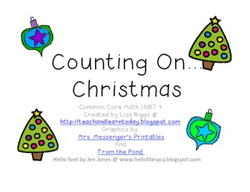 Counting On Christmas Math
