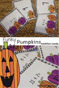 Counting On Funky Pumpkins Addition Cards