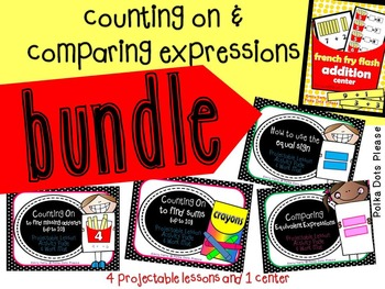 Counting On and Comparing Number Expressions Bundle (addit