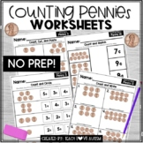 Counting Pennies Worksheets for Special Education or Early