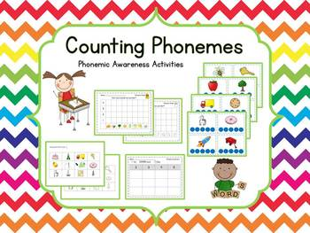 Counting Phonemes {Word Work} Phonemic Awareness Activities
