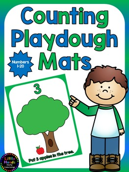 Counting Playdough Mats 1-20- Apples in the Tree