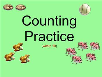 Counting Practice Within 10 - Smartboard