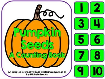 Counting Pumpkin Seeds a Halloween Adapted Interactive Boo