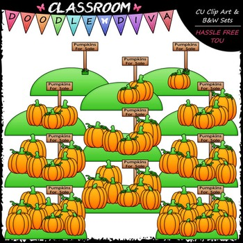 Counting Pumpkins Clip Art - Sequence, Counting & Math Clip Art