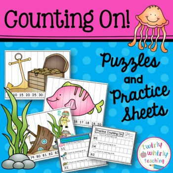 Counting Puzzles 1-100 ocean-themed