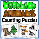 Number Puzzles – Woodland Animals Theme - Free