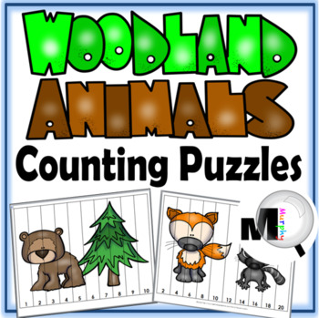 Counting Puzzles – Woodland Animals Theme