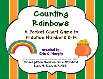 Counting Rainbows - A Pocket Chart Game to Practice Identi