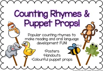 Counting Rhymes & Puppet Props! Make reading and oral lang