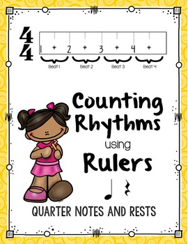 Counting Rhythms using Rulers: Quarter Notes and Rests